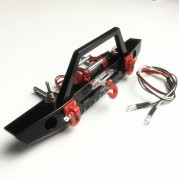 1/10 Front Bumper With LED's and Shackles For Crawler