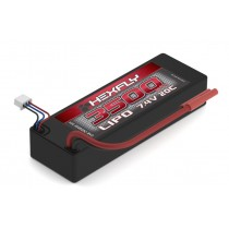 7.4V 2S 20C 3500mAh LIPO Battery with Hard Case and Banana 4.0 Connector, (Must use LIPO charger) - HX-350020C-BV2