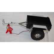 1/10 Aluminum Hitch Mount Trailer With LED's For Crawler