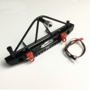 1/10 Rear Bumper With LED's, Shackles and Spare Tire Holder For Crawler