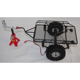 1/10 Metal Leaf Spring Hitch Mount Trailer With LED's For Crawler