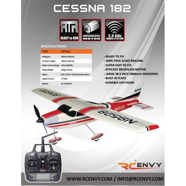 skyartec brushless cessna 182 lcd 2 4ghz with 3g3x technology rtf rc rh rcenvy com Cessna 182 Poh Manual 1982 Cessna 182 Brake System