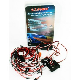 G.T. Power RC LED Lights System Realistic Flashing for 1/10 RC Car - GTP-53