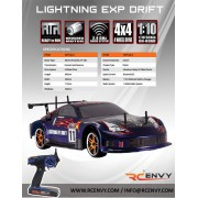 Redcat Racing Lightning EPX Drift 1/10 Scale Electric Road Car + 2 Extra Rear Tires