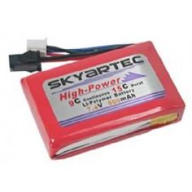 Skyartec WASP X3V LIPO Battery, 7.4V 900mAh
