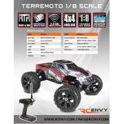 Redcat Racing Terremoto V2 1/8 Scale Brushless Electric Monster Truck: