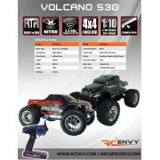 Redcat Racing Volcano S30 1/10 Scale 4WD 2.4GHz RTR RC Nitro Monster Truck