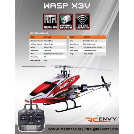Skyartec WASP X3V LCD 2.4GHz with 3- Axis Gyro - RTF RC Helicopter
